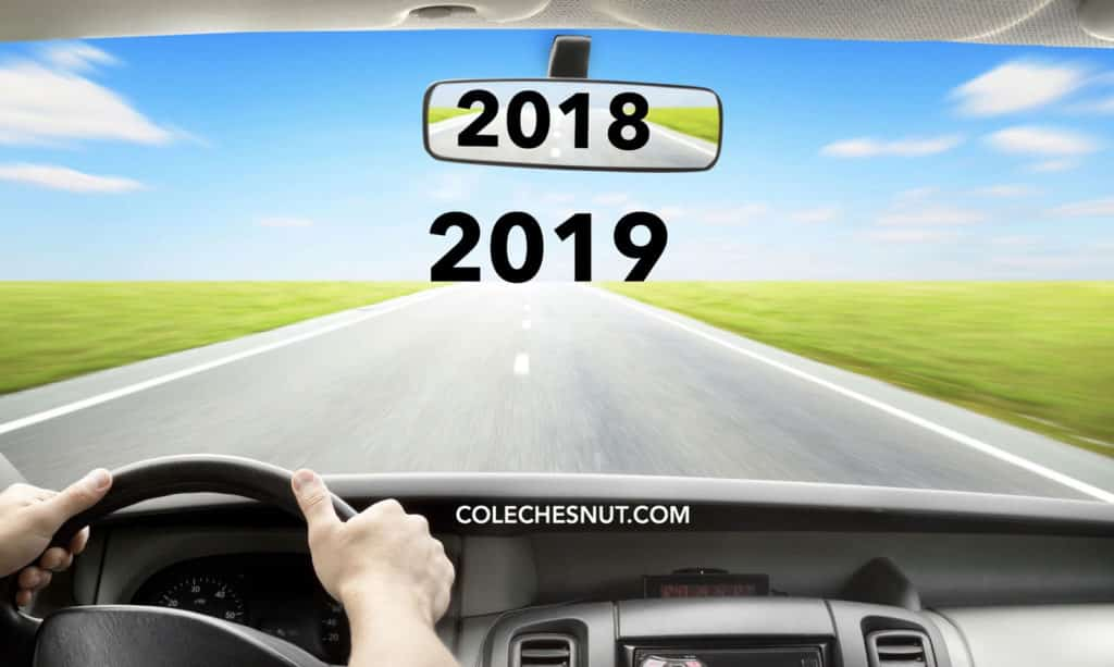 2019 on the road ahead, 2018 behind in the rear-view mirror.