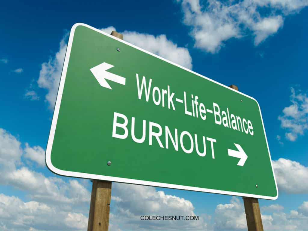 Work-Life Balance or Burnout Street Sign